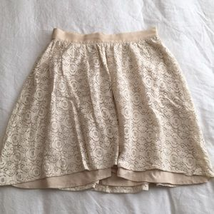 Nordstrom Collective Concepts cream lace skirt